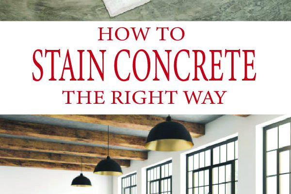 Learn how to stain concrete flooring and upgrade your garage, patio, or indoor room. Professional results done DIY