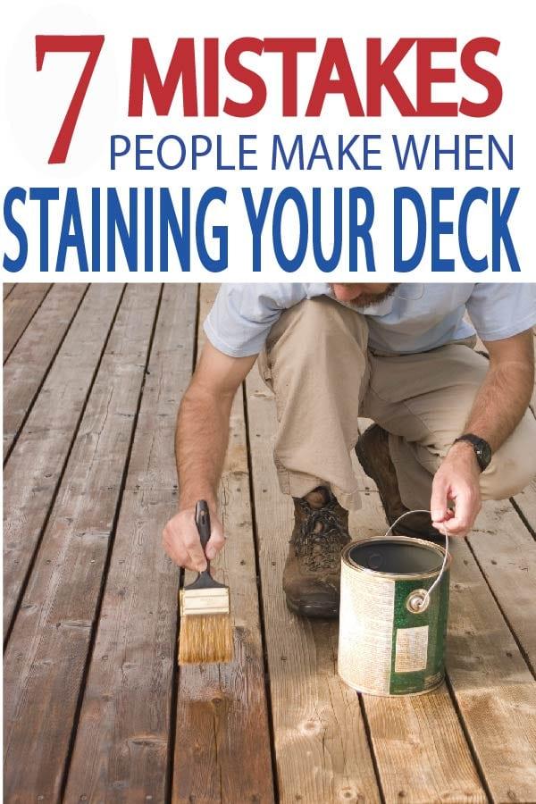 Painted Furniture Ideas 7 Mistakes People Make When Staining Their Deck Painted Furniture Ideas