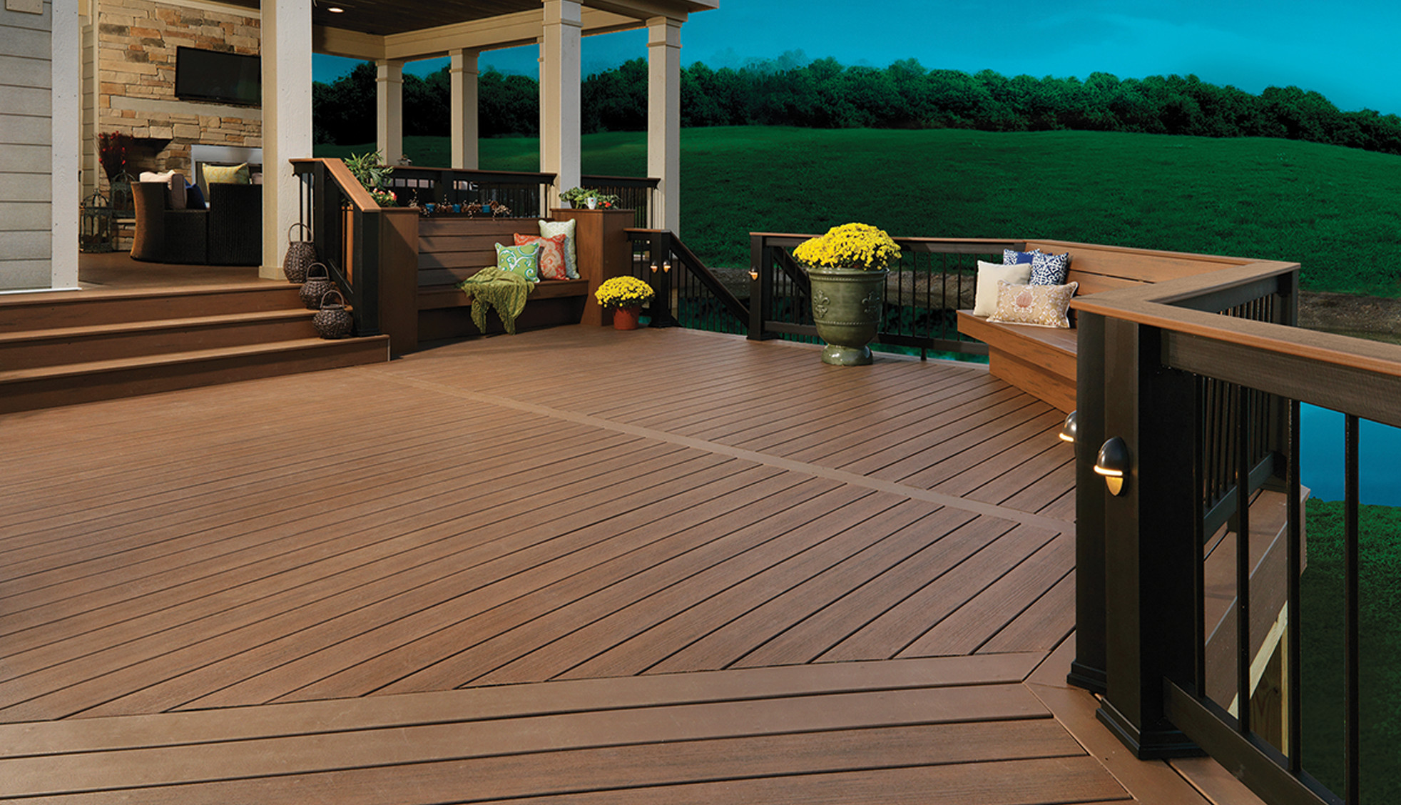 deck stained DIY