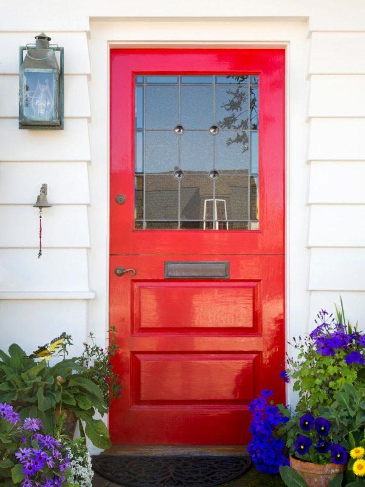 how to paint your door