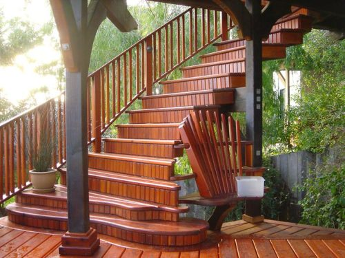 stained deck DIY