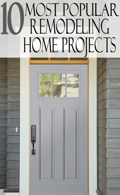 Selling a home or just wanting to improve yours? Check out these 10 popular remodeling home project!
