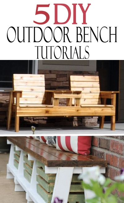 These DIY outdoor bench tutorials are perfect to upgrade our outdoor seating this summer!