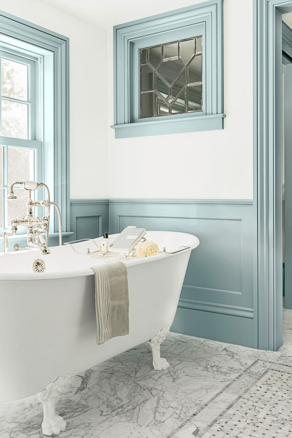 How to Decorate a Bathroom - Painted Furniture Ideas