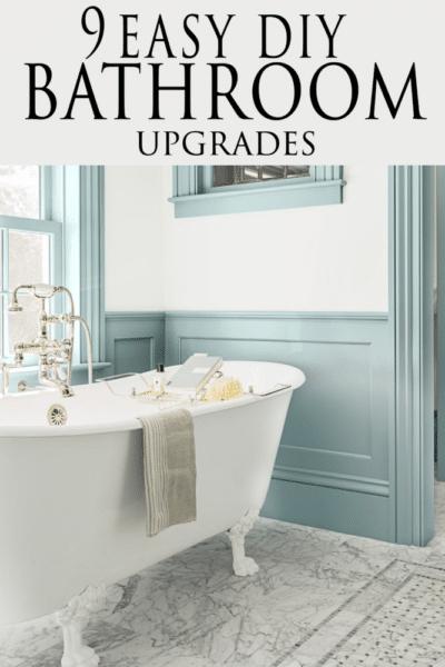 bathroom DIY upgrades