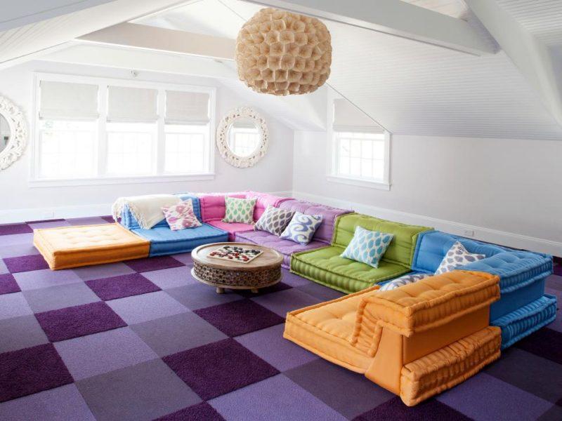 attic room makeover DIY
