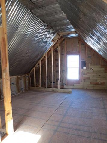 before DIY attic makeover