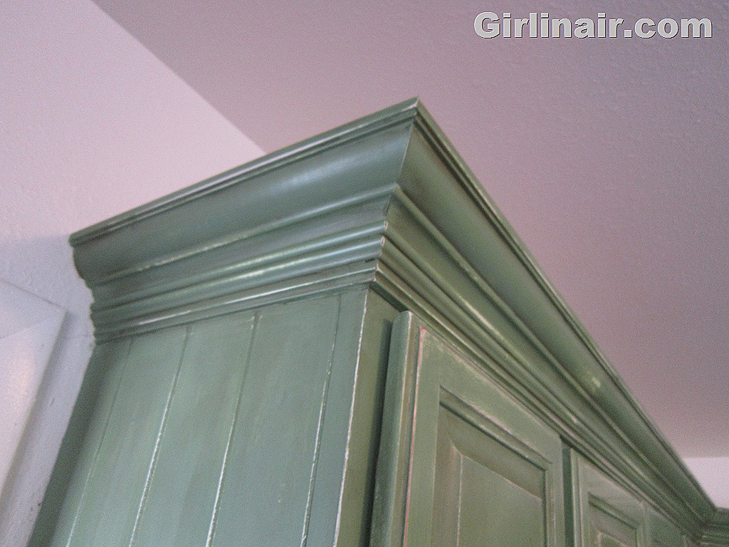crown molding cabinets DIY