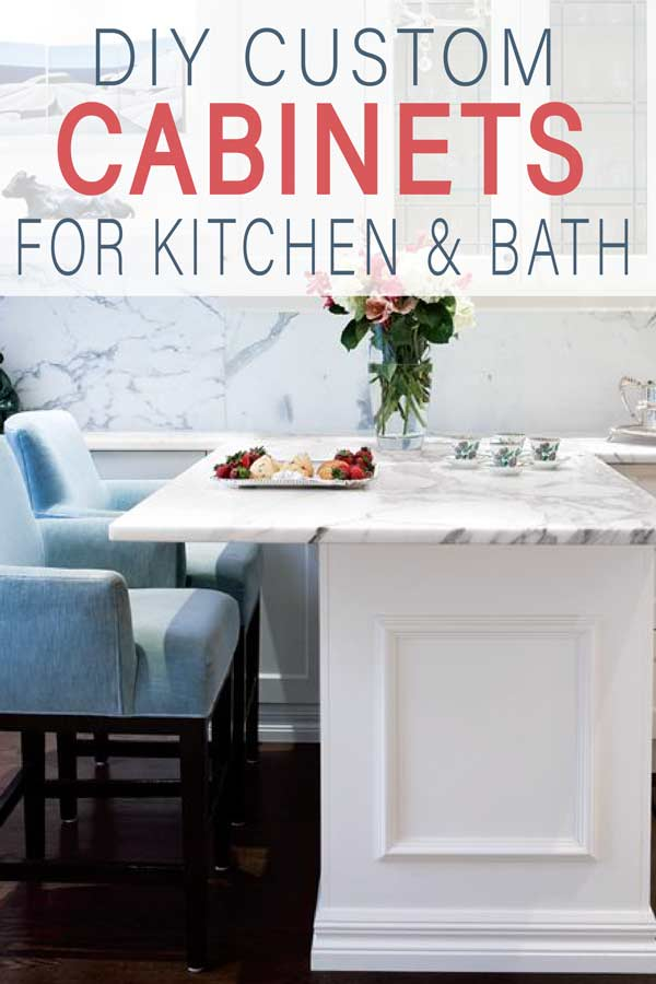 Learn how to DIY Custom Cabinets for your kitchen or bathroom! Upgrade your home with little money!