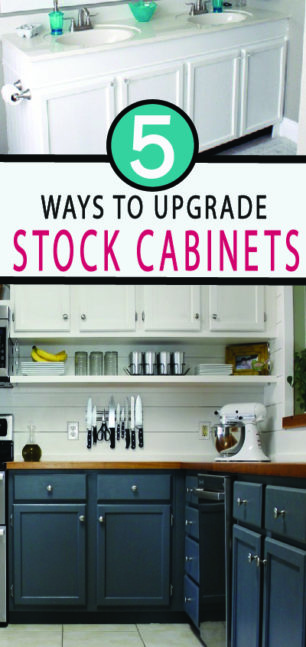 Upgrade your kitchen cabinets with these 5 ways to a custom kitchen look!  DIY projects for your home are all found here!
