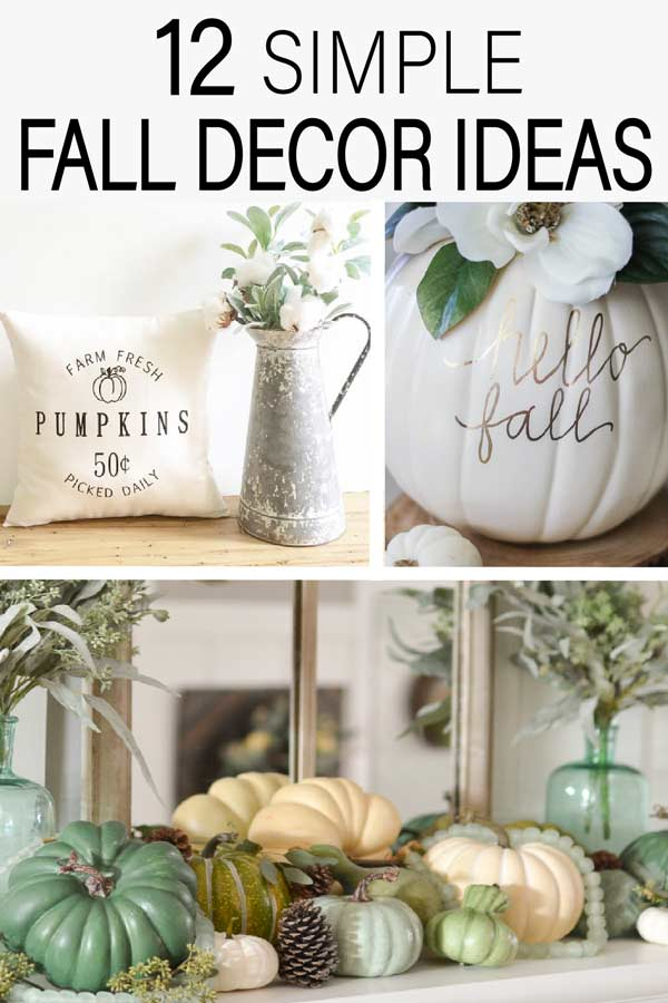 12 Simple fall decor ideas that are easy to put together this holiday season. Check out these beautiful home decor ideas for this fall!