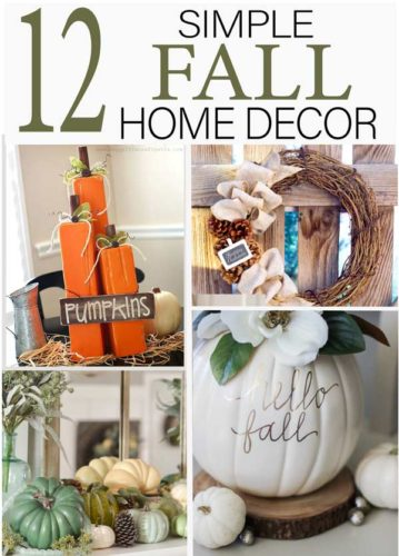 Take a minute to browse these beautiful fall home decor ideas- the best of pinterest in one article!