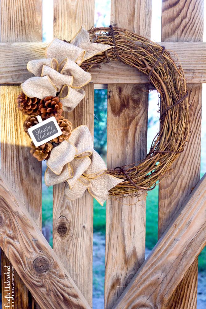 fall wreath simple and cute