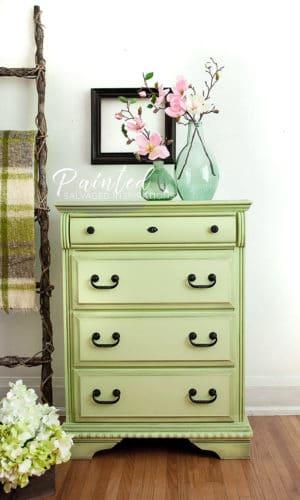 after green dresser