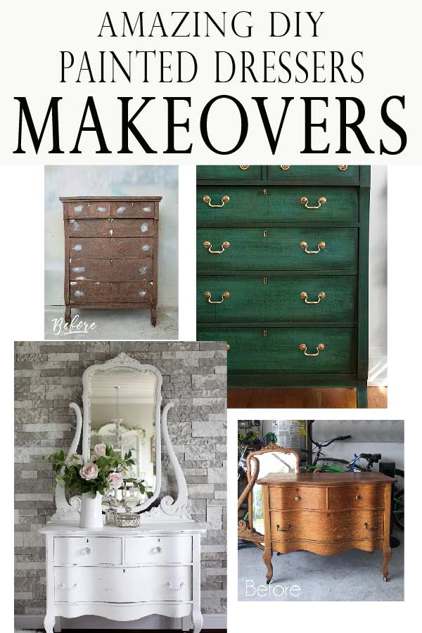 Painting a dresser soon? Check out these beautiful diy dresser makeover projects! Bring new life to old furniture!