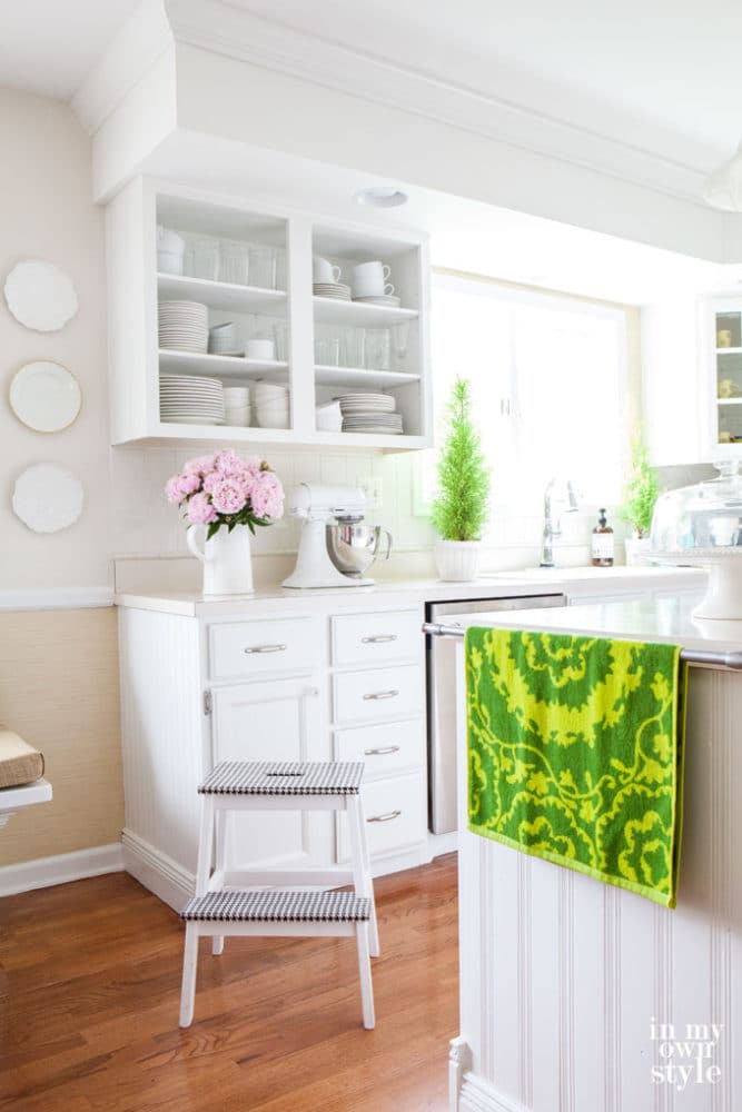 kitchen open shelving diy white