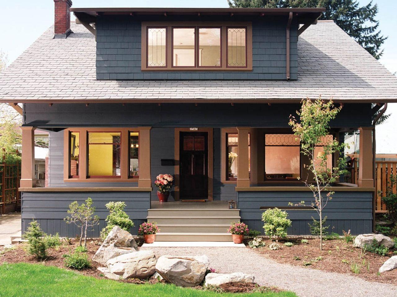 black exterior paint