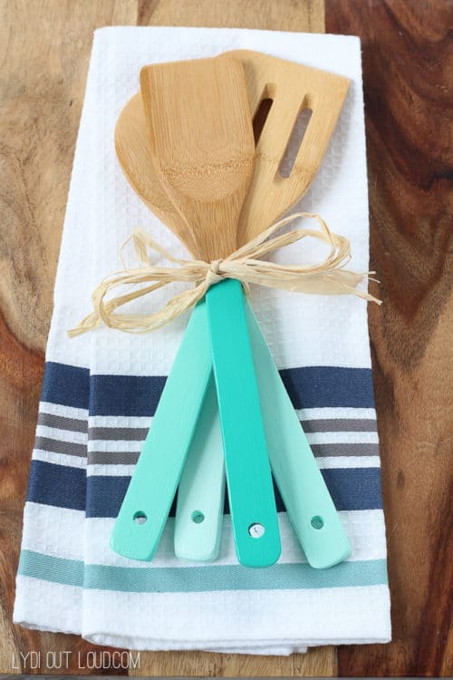 painted kitchen utensil gift