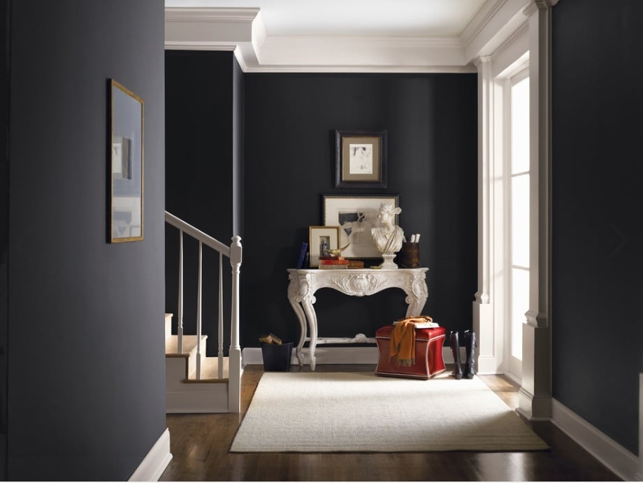black walls in home decor