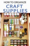 No matter how much space you have (or how little you have) to store your paint craft supplies, at some point, it will run out.. Learn how to organize your craft supplies efficiently today!