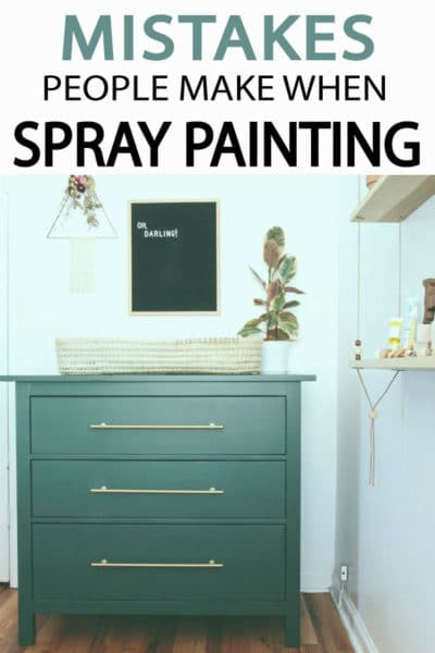 Whether you've used spray paint for years, or you are just starting out, you can easily fall victim to some of these most common spray paint mistakes that everyone makes. Learn how to do it right!