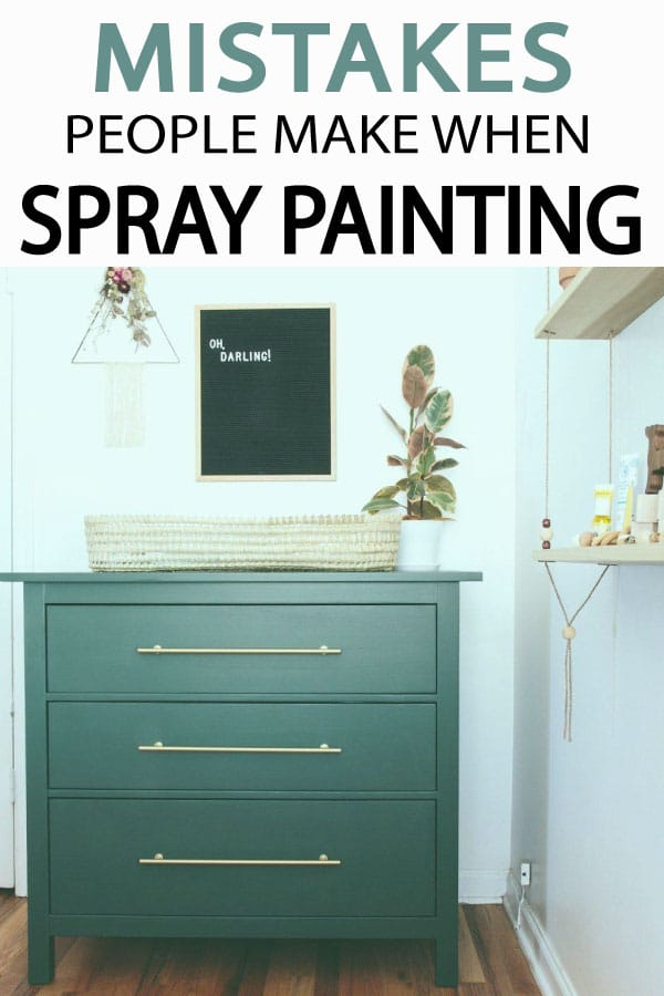 Mistakes People Make With Spray Paint