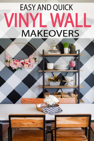 Vinyl makes it possible to completely transform the look of your room without leaving any permanent changes to the home itself. Check these makeovers out!
