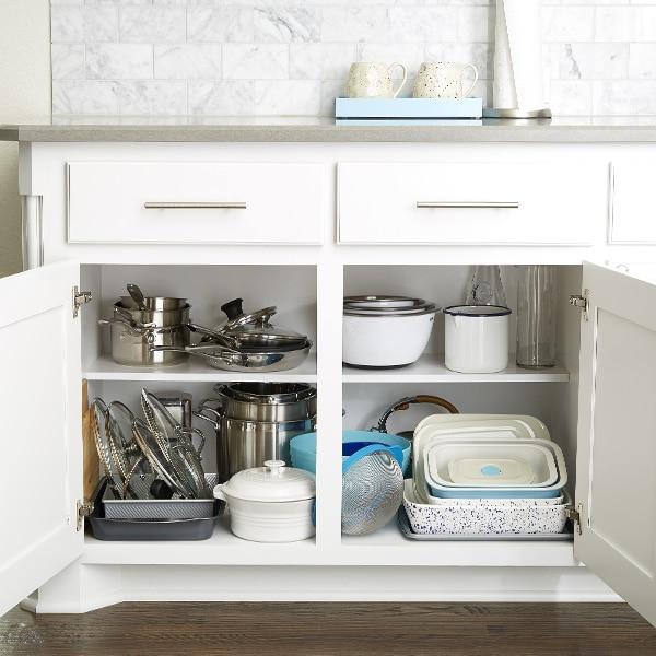 organize kitchen sink