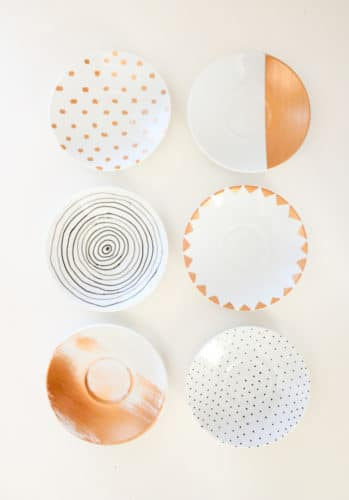 glass painted plates