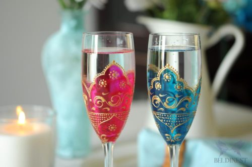 painted goblets