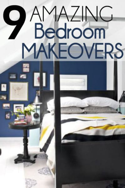 Need Inspiration for a bedroom makeover? Check out these beautiful bedroom before and after photos to inspire you!