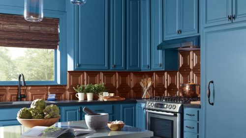 This paint brand is a high quality, durable paint with a nice finish that is definitely sturdy enough for kitchen cabinets. Sherwin Williams is a great ...
