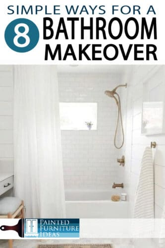 DIY Bathroom Makeover ideas for small bathrooms that could use a new look, without spending a fortune!
