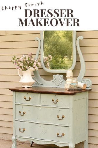 chippy dresser makeover
