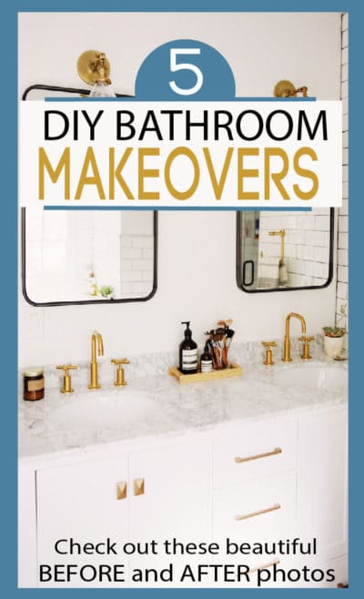 A bathroom makeover doesn't have to take a lot of time or a giant budget. Check out these amazing makeovers!