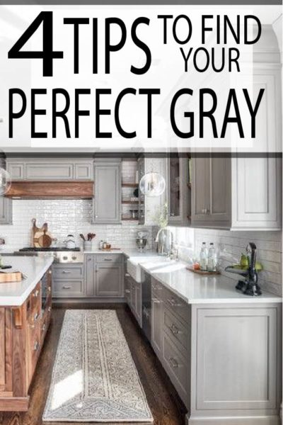 Gray kitchen, bedroom, and living rooms are all the rage. Find your perfect gray paint color with these helpful tips!