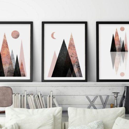 three wall art canvas
