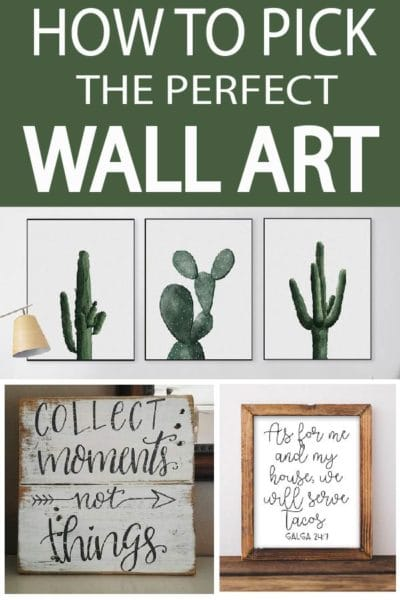 Wall art is an easy home decor solution, learn what size, color, wording, and style is best for you!