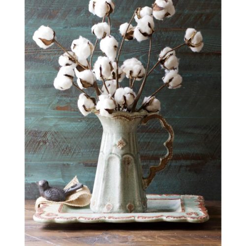 cotton flowers in vase