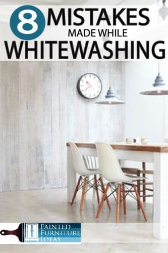 Whitewashing is a antiquing technique that brings out wood grain while lightening the piece. Learn common mistakes to avoid on your DIY project.