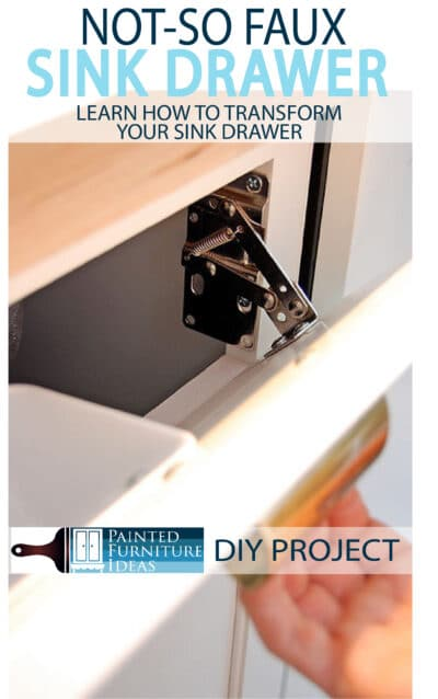 You know that faux kitchen drawer underneath your sink that is completely useless? Tranform your drawer to a pull out and make it functional!