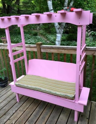pallet bench for outdoors