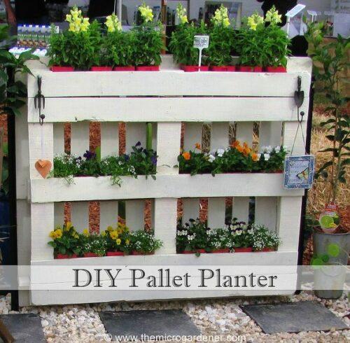 pallet planter for herbs