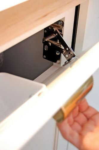 hinges for faux drawer
