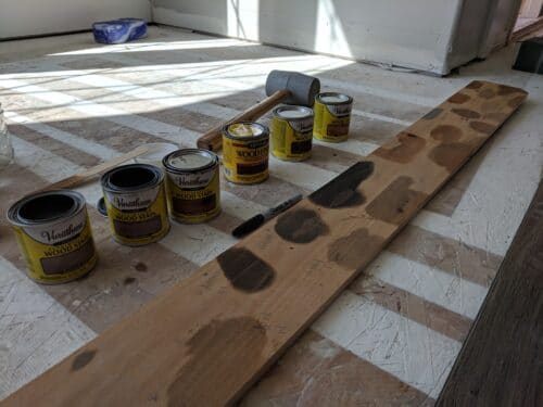 choosing a type of wood stain