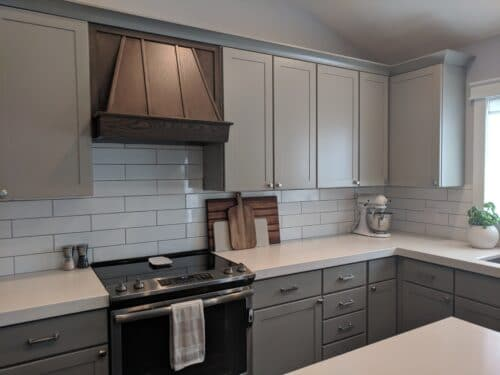 finished kitchen with RTA cabinets