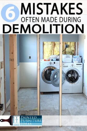 DIY demolition seems like a simple task, and with enough help from friends, it is. However, the following mistakes can turn your simple task into a long drawn out disaster.
