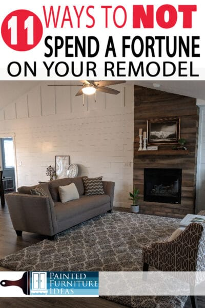 Learn how to save a fortune on your remodel in 11 different ways, I saved $1000's on our home remodel!