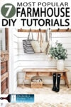 DIY Farmhouse style has become a staple in interior decor in the past 10 years and is quickly becoming a classic look. What is not to love? Learn how to pull off this look with my 7 most popular farmhouse articles!