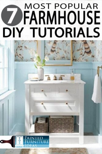 Farmhouse tutorials for your home are all right here!  check out the most popular farmhouse articles to inspire your home decor!